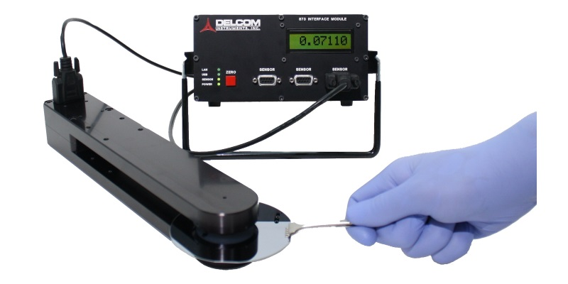 eddy current sensor measuring silicon wafer